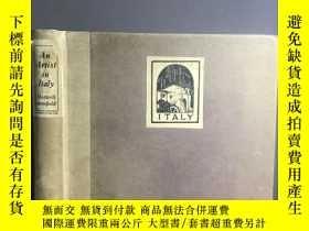 二手書博民逛書店An罕見Artist in Italy 1926 彩色插圖 毛邊