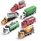 兒童慣性合金小汽車玩具小男孩消防灑水攪拌工程車挖掘機仿真模型