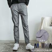 超彈力刷毛工作褲 【HK3202】OBIYUAN 皮標休閒褲/九分長褲共7色