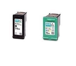 限時限量特惠☆HP環保墨水匣CB336WA(NO.74XL) + CB338WA(NO.75XL)3黑3彩共六顆HP D4100/D4260/C4280/C4385/C5280用