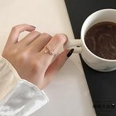 戒指女小清新鋯石開口可調節食指環戒子【時尚大衣櫥】