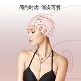 泳帽女長發防水矽膠舒適不勒頭韓國可愛成人可愛豬印花專業游泳帽青木鋪子