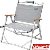 Coleman CM-33561淺灰 輕薄折疊椅 戶外休閒椅/導演椅/靠背折合椅/野餐露營椅/低腳椅