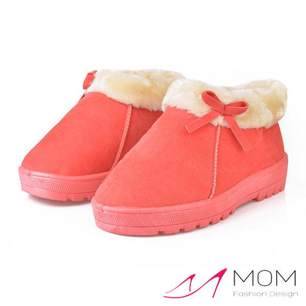 NG福利品出清 可愛蝴蝶結糖果色時尚保暖短靴 雪靴 小棉鞋【現貨】 *MOM*