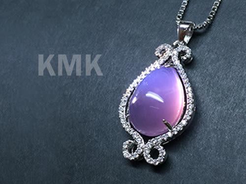 【KMK天然寶石】如魚得水(印尼爪哇島天然紫玉髓-項鍊)