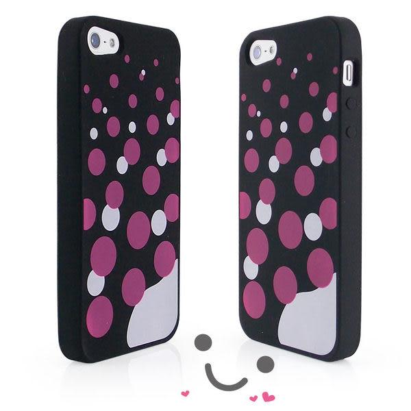 iPhone 5 / 5S 可愛繽紛彩色泡泡專用保護套-降價大優惠
