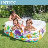 【INTEX】海底動物方型戲水泳池(340L)3歲+(57471N)