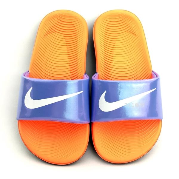 《7+1童鞋》NIKE KAWA SLIDE SE (GS/PS) 輕量 防水 運動 休閒拖鞋 F813 紫色