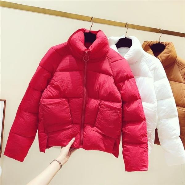羽絨棉服 羽絨棉服女2021年新款韓版冬季外套女修身短款輕薄棉衣女式小棉襖 歐歐