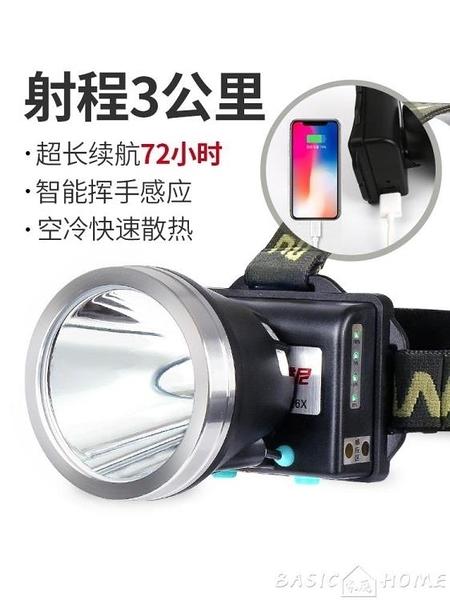 頭燈雅尼led頭燈強光充電超亮遠射頭戴式手電筒戶外釣魚鋰電礦燈黃光