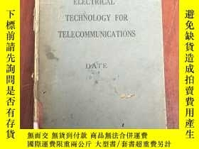 二手書博民逛書店electrical罕見technology for telecommunications(P3258)無後皮