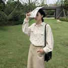 女長袖襯衫2019秋季新款韓版波點長袖寬鬆襯衣女