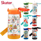 Skater PET 吸管水壺480ml 公司貨 吸管式透明冷水壺 0741 附可調背帶