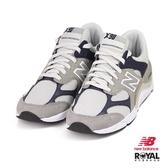 New Balance 新竹皇家 X-90 灰/藍色 網布 麂皮 拼接 休閒運動鞋 男款 NO.B0282