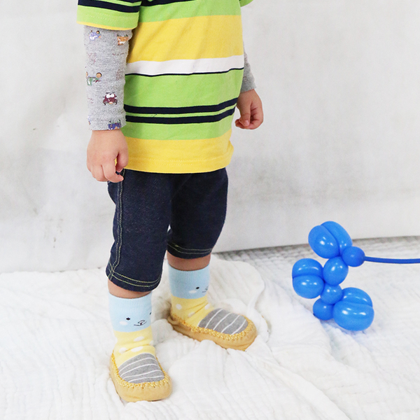 寶寶厚底毛圈防滑學步鞋襪 保暖童襪 寶寶襪 兒童防滑襪 地板襪 卡通船襪 學步襪 (1-18M)【JB0075】