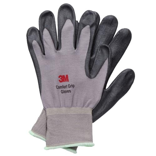3M 亮彩舒適型 止滑 耐磨手套 灰色 S