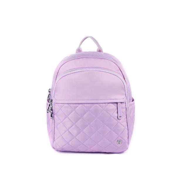 beside u BNUO 防盜刷甜美可愛菱格紋後背包-粉紅色 粉紫色 原廠公司貨
