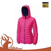 【Wildland 荒野 女 700FP 連帽輕羽絨衣《桃紅》】0A12111/外套/保暖外套/防寒