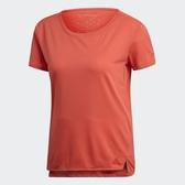 ADIDAS CLIMACHILL 女裝 短袖 慢跑 訓練 休閒 透氣 吸濕 排汗 橘紅【運動世界】EI6383