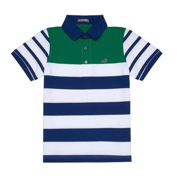 『小鱷魚童裝』條紋透氣POLO衫(10號~18號)531101