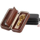 PU手錶收納包 2位便捷式旅行手錶拉鏈包 首飾盒 名牌手錶收藏道具