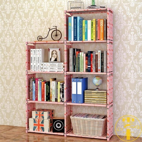 書架加固書櫃簡約桌上書架置物架自由組合層架【雲木雜貨】