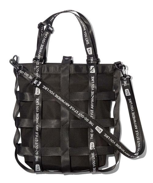 日本 KiU 202-900 黑色 籃網托特包 時尚造型,一包變兩包,防水三用瞬間變化