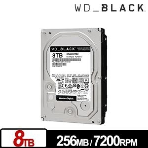 WD 黑標 8TB 3.5吋 SATA電競硬碟 WD8001FZBX