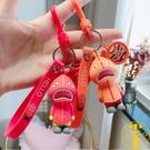 可愛潮品鯊魚人鑰匙扣情侶包掛件鑰匙鏈【雲...