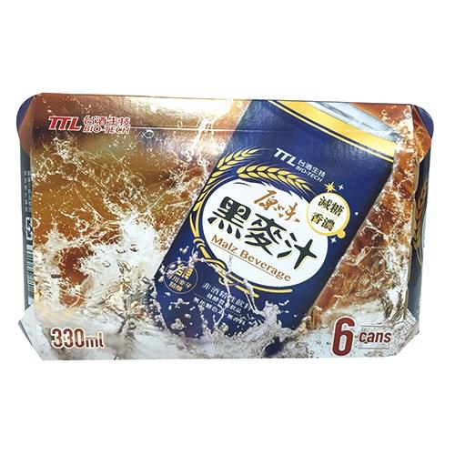 台酒原味減糖黑麥汁330ML*6【愛買】