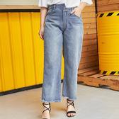 Poly Lulu 美式復古水洗設計男友牛仔褲-藍【96070069】