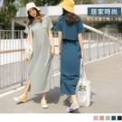《DA8494》居家時尚。微性感高含棉英文印花簍空長洋裝--適 XL~5L OrangeBear
