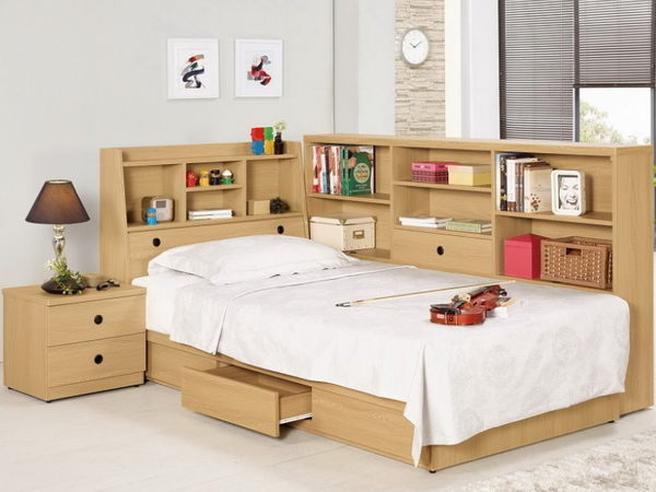 床架 MK-142-1 達拉斯3.5尺書架型單人床 (床頭+床底)(不含床墊) 【大眾家居舘】