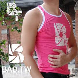奢華壞男《 BF 限量款 - 超彈性合身背心 (桃紅滾白邊) 》【S / M / L / XL / XXL】(潮T、上衣、服飾)
