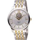 TISSOT TRADITION 古典風格自動機械錶 T0639072203800 雙色40mm