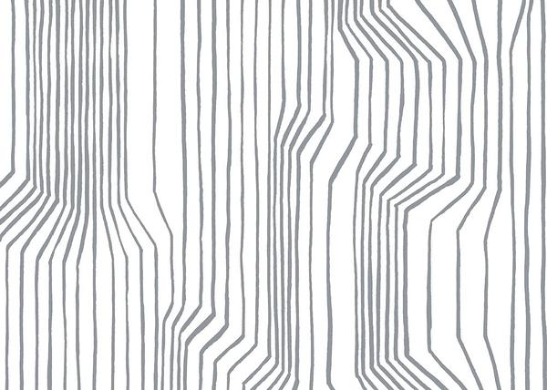 幾何圖形 黑白條紋壁紙 marimekko  Frekvenssi Grey 23366