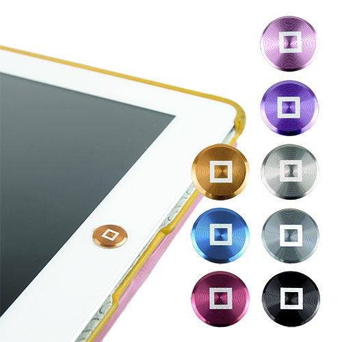 多彩鋁鎂合金按鍵貼(方塊款) for iPad | iPhone | iPod Touch