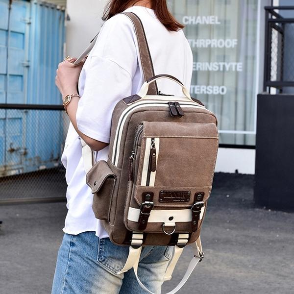 兩用男女胸前包大容量胸包時尚斜挎后背包單肩旅行包休閒雙肩小包 後街五號
