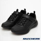 SKECHERS GO RUN 600 黑色 魔鬼氈 運動鞋 中大童 NO.R4427