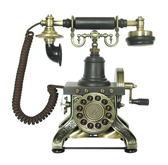 艾菲爾鐵塔復古電話經典電話按鍵式電話禮物送禮-達可家居