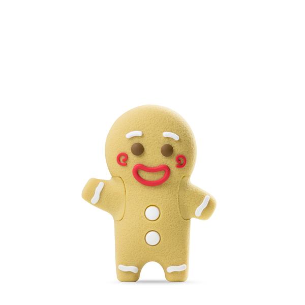 【Bone】薑餅人巴頓隨身碟 3.0 Button Gingerman Driver 3.0 (32G)