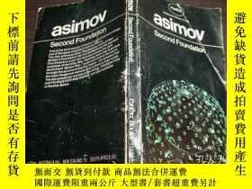 二手書博民逛書店原版英法德意等外文罕見ASIMOV Second Foundat