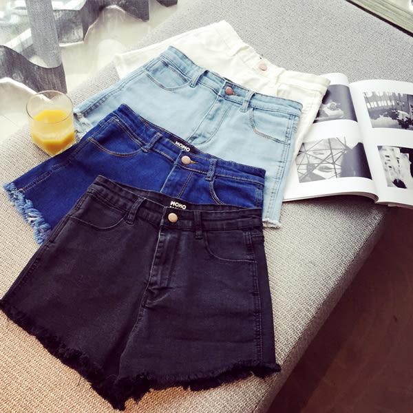 【GZ C1】牛仔短褲 複古修身顯瘦彈力緊身牛仔褲 高腰牛仔短褲