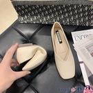 熱賣豆豆鞋 2021春季新款平底單鞋女韓版百搭方頭淺口一腳蹬奶奶鞋瓢鞋豆豆鞋 coco
