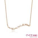 【Sayaka紗彌佳】項鍊 925純銀繁星點點微鑲輕珠寶項鍊