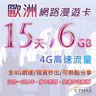 歐洲15天6GB 高速4G上網 歐洲上網卡 希臘 奧地利 丹麥 德國 西班牙 冰島 葡萄牙 SIM16