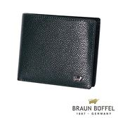 【BRAUN BUFFEL】 德國小金牛丘喬系列10卡皮夾(深藍色)BF301-314-MAR