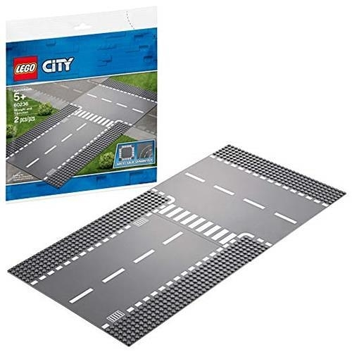 LEGO 樂高 City Straight and T-Junction 60236 Building Kit (2 Piece)