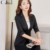 小西裝外套 女短款韓版OL修身氣質休閒女士工作西服