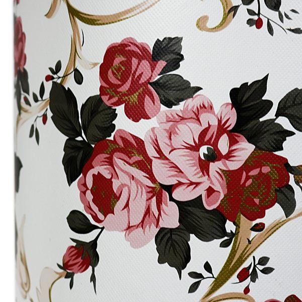 【雅典娜家飾】仿皮革玫瑰花格紋垃圾桶/QB33